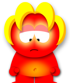 Sad South Park Demon. Thinks you should buy a timeshare so you don't have a bad time.